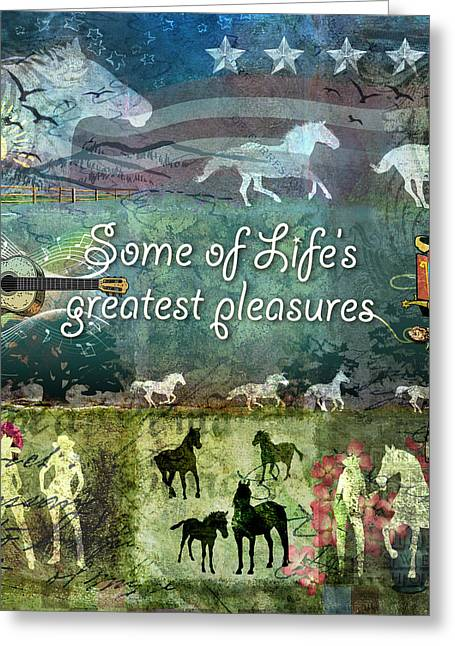 Country Pleasures Greeting Card by Evie Cook