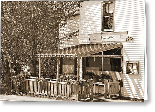 Country Restaurant Greeting Card by Kirt Tisdale