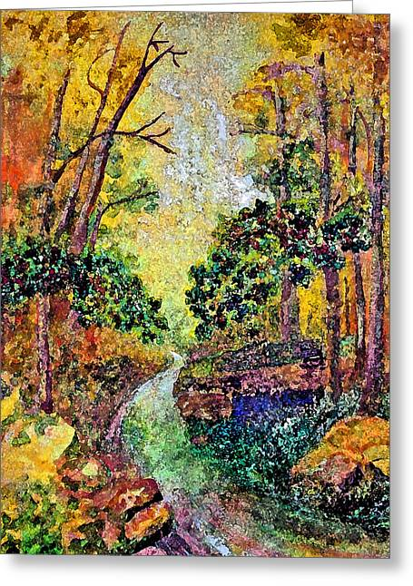 Country Road Greeting Card by Anne Hamilton
