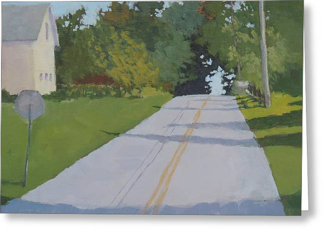 Country Road Greeting Card by Bill Tomsa