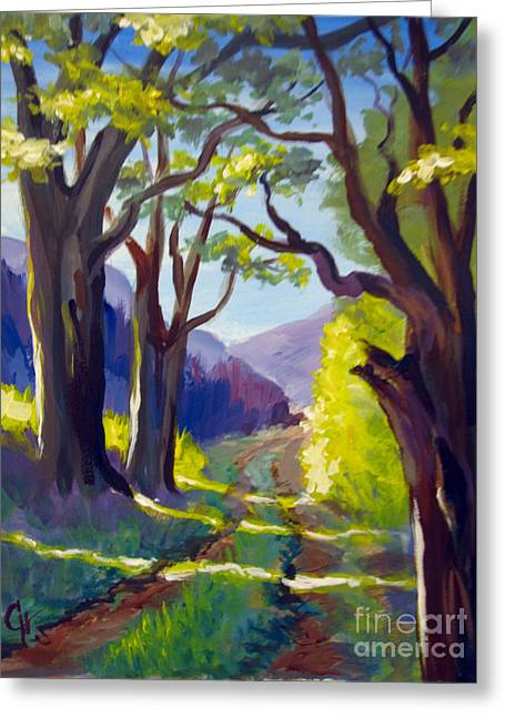 Greeting Card featuring the painting Country Road by Carol Hart