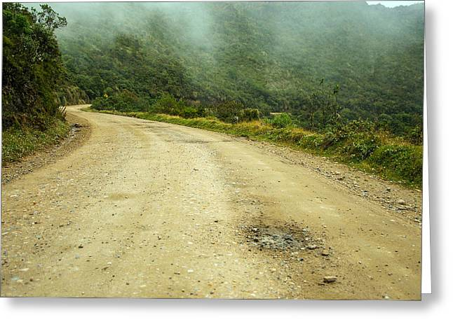 Country Road In Colombia Greeting Card by Jess Kraft