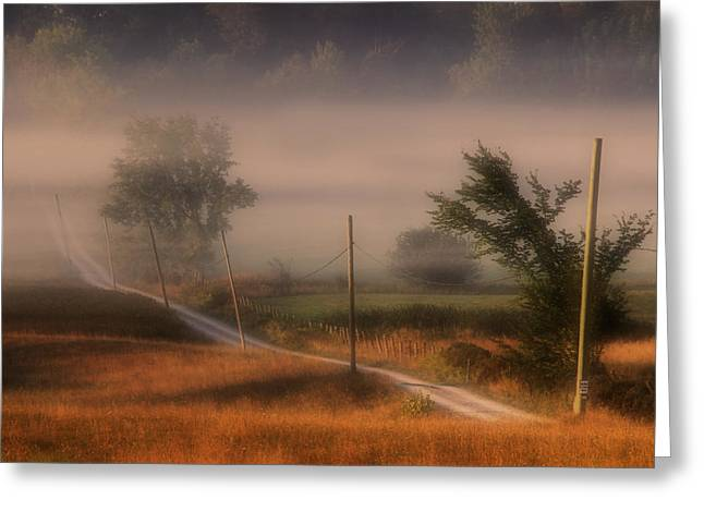 Country Road Greeting Card by Jim Vance