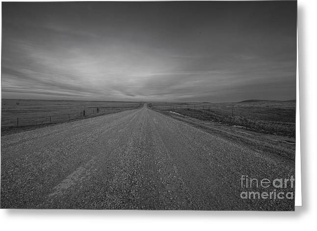 A Country Road Of South Dakota Greeting Card