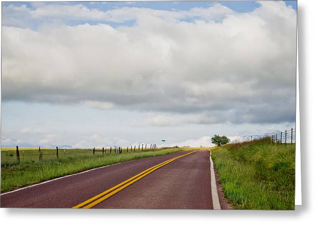 Country Road Greeting Card by Swift Family