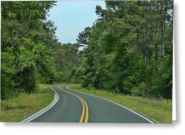 Greeting Card featuring the photograph Country Road by Victor Montgomery