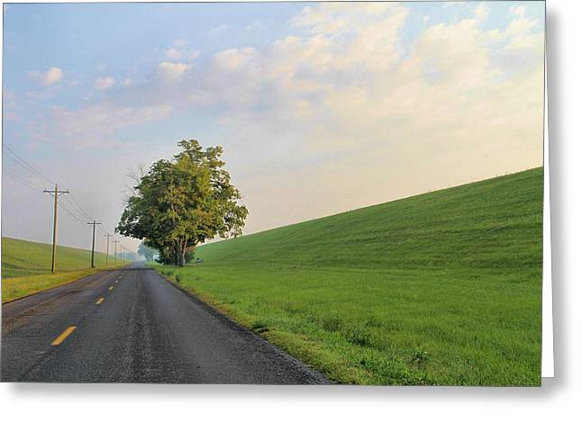 Country Roads Greeting Card by Dan Sproul