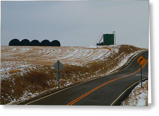 Country Roads In Holmes County Greeting Card by Dan Sproul