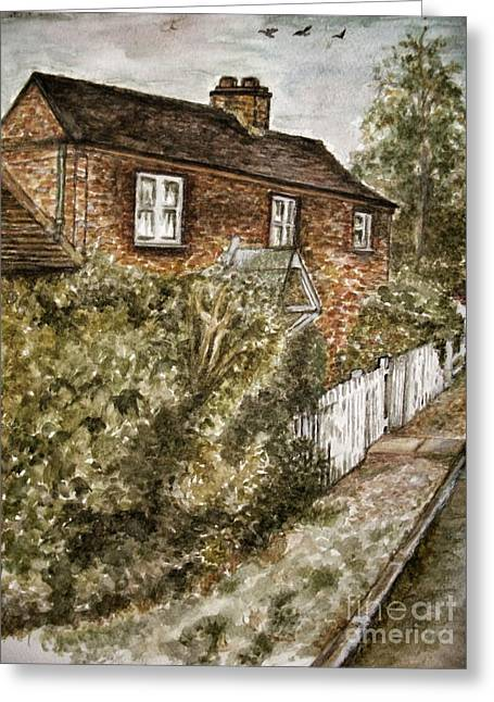 Old English Cottage Greeting Card