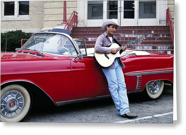 Country Singer Clint Black Greeting Card