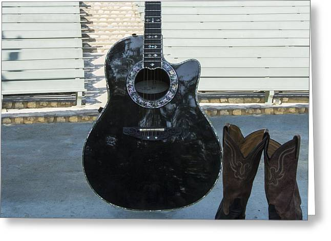 Greeting Card featuring the photograph Country-rock Singer Wanted- by Renee Anderson