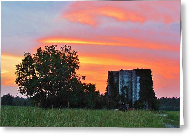 Country Sky Greeting Card by Cynthia Guinn