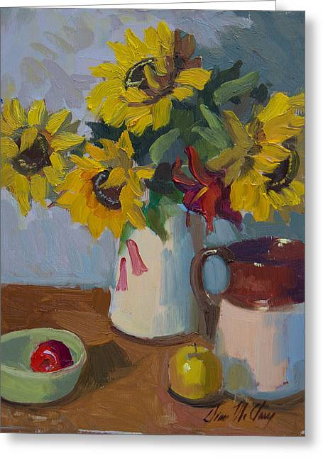 Country Still Life Greeting Card by Diane McClary