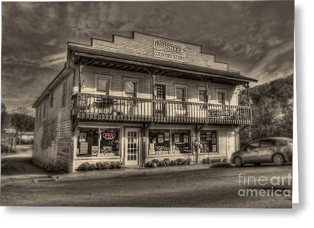 Country Store Open Greeting Card by Dan Friend
