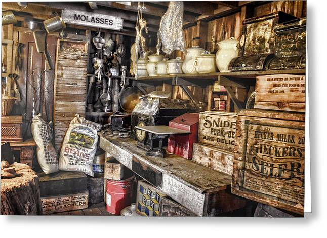 Country Store Supplies Greeting Card by Ken Smith