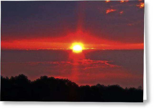 Country Sunrise 003 Greeting Card by George Bostian