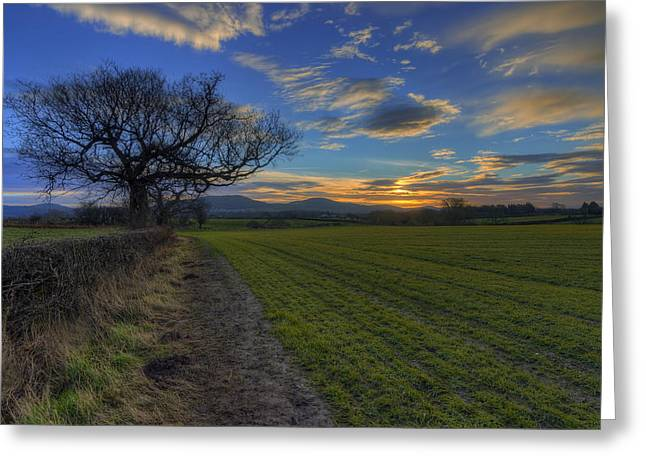 Country Sunrise Greeting Card by Ian Mitchell
