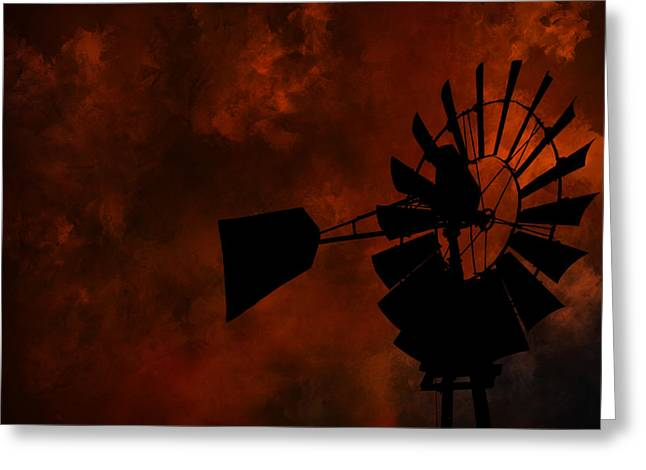 Country Sunset Greeting Card by Deena Stoddard