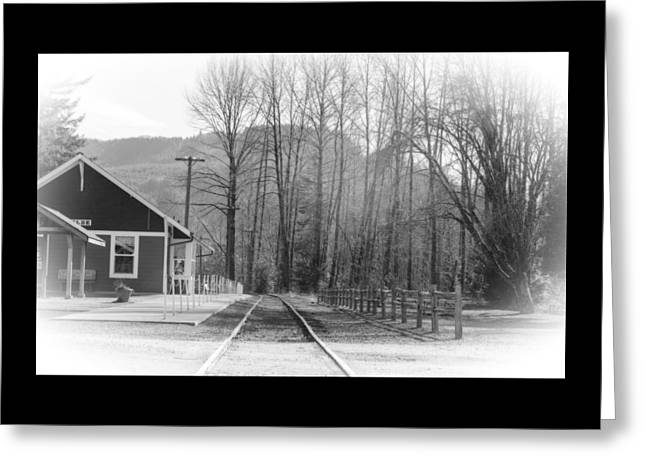 Greeting Card featuring the photograph Country Train Depot by Tikvah's Hope