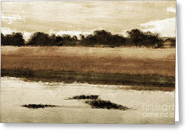 Country View Greeting Card by Marcia Lee Jones