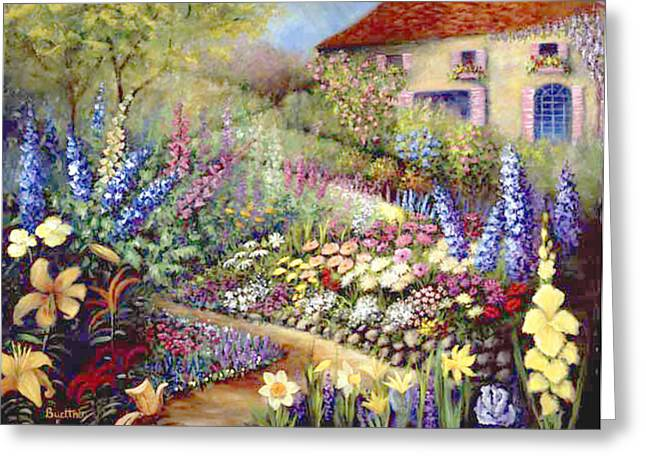 Greeting Card featuring the painting Country Walk by Lynn Buettner