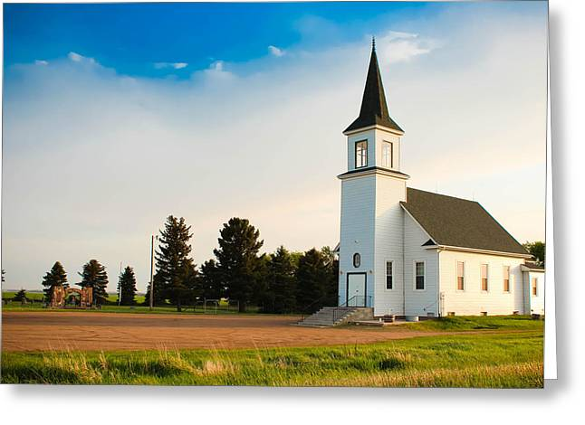 Countryside Church Greeting Card