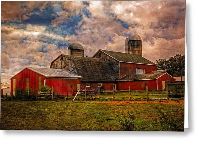 Countryside Greeting Card by Debra and Dave Vanderlaan