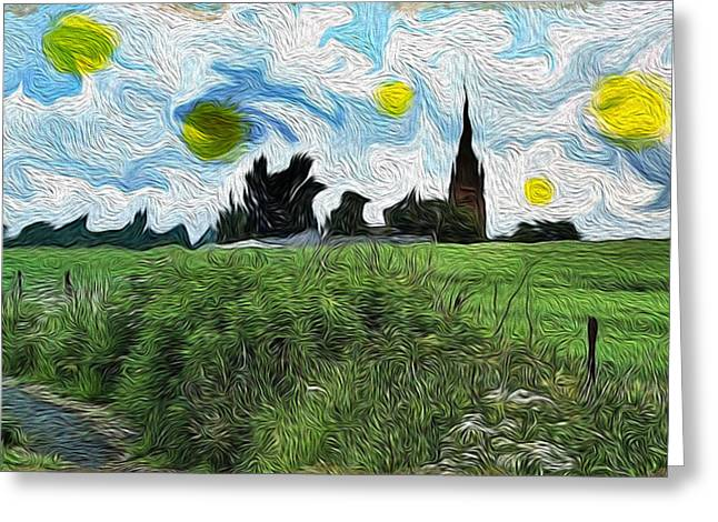 Countryside Impressioniism Greeting Card