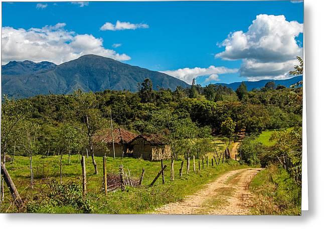 Countryside In Boyaca Colombia Greeting Card by Jess Kraft