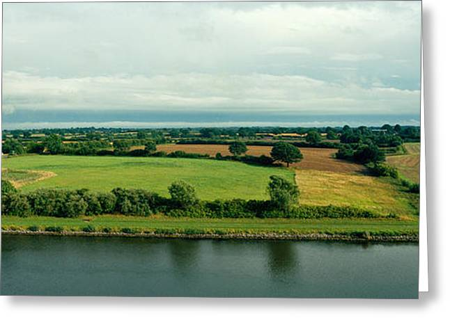 Countryside, Kiel Canal, Kiel Greeting Card by Panoramic Images
