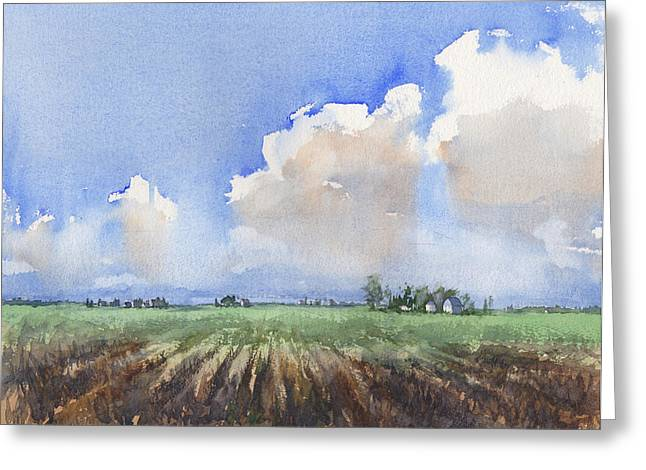 Countryside Greeting Card by Max Good