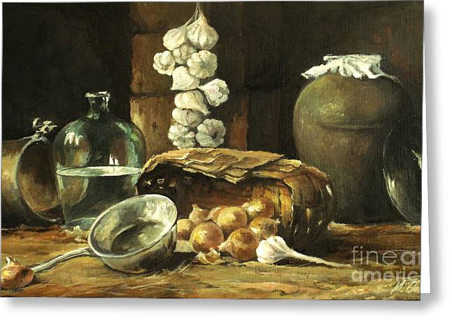 Countryside Still Life Greeting Card