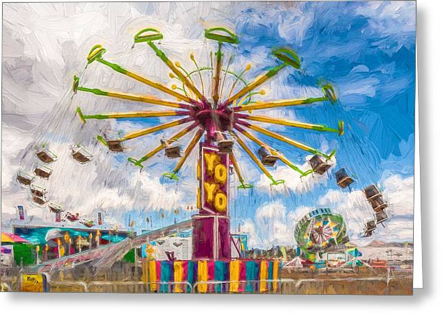 County Fair Greeting Card by Beverly Parks