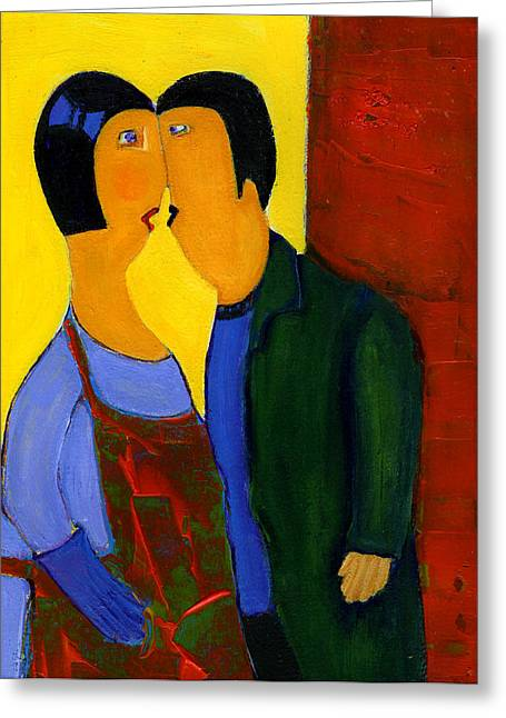 Couple Greeting Card by Agnes Trachet
