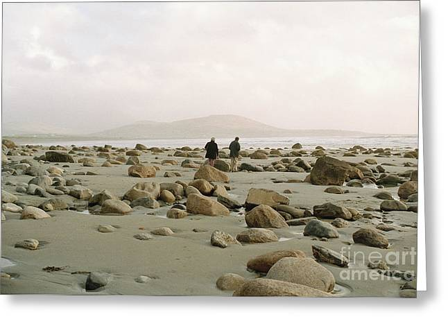 Greeting Card featuring the photograph Couple And The Rocks by Rebecca Harman