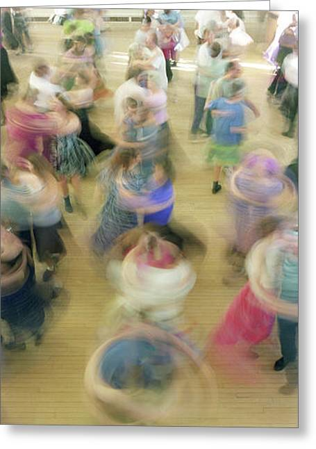 Couple Performing Contra Dance Greeting Card