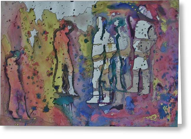 Couples Greeting Card by Mark Greenhalgh