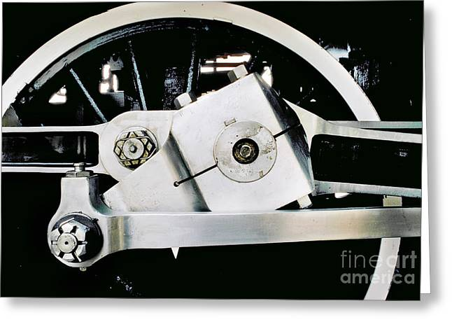 Coupling Rod And Driver Wheels For A Steam Locomotive Greeting Card by Wernher Krutein