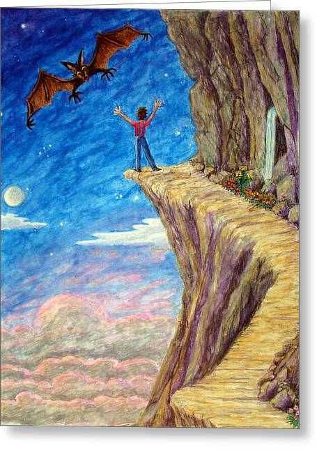 Greeting Card featuring the painting Courage by Matt Konar