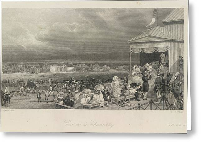 Cources De Chantilly Greeting Card by British Library