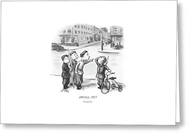 Courier Greeting Card by William Steig
