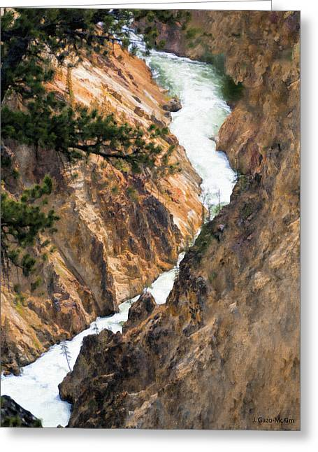 Coursing Through The Rocks Greeting Card
