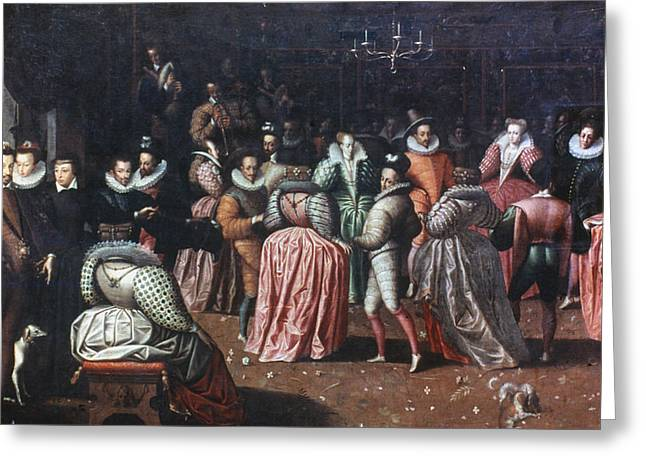Court Ball, 16th Century Greeting Card by Granger