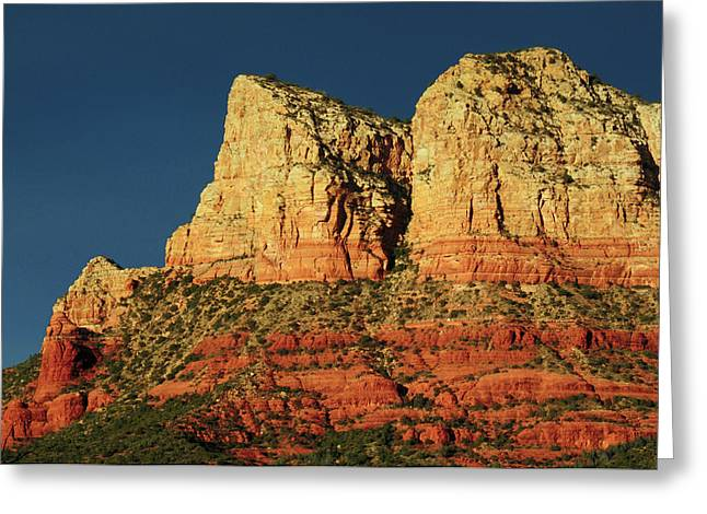Court House Butte At Sunset Greeting Card by Michel Hersen
