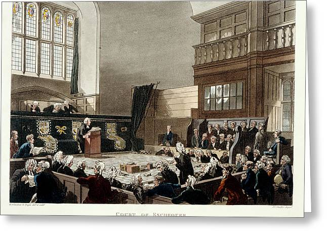 Court Of Exchequer Greeting Card