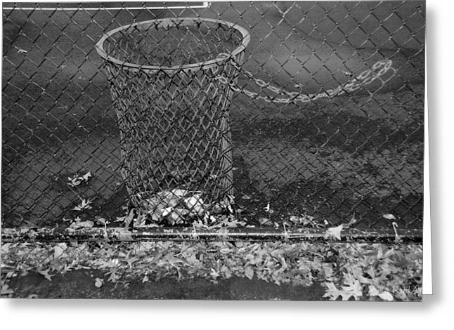 Court Trash In Black And White  Greeting Card by Rob Hans