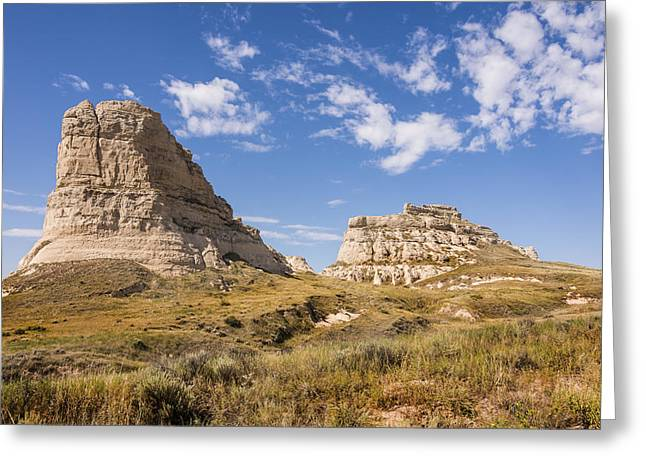 Courthouse And Jail Rocks - Bridgeport Nebraska Greeting Card by Brian Harig