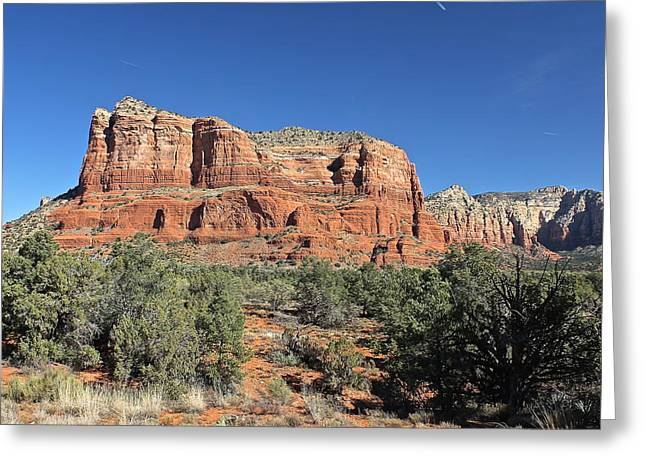 Courthouse Butte Greeting Card by Penny Meyers