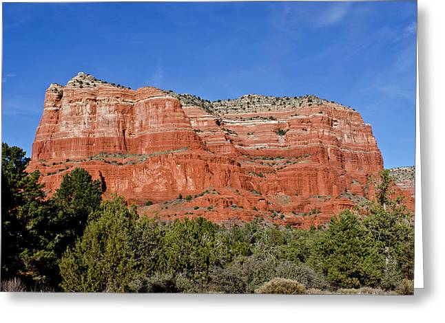 Courthouse Butte Ribboned Red Rocks Greeting Card