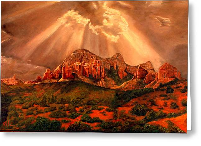 Courthouse Butte Greeting Card by Rick Fitzsimons